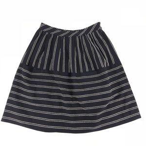 🛍 Maeve striped navy a line skirt